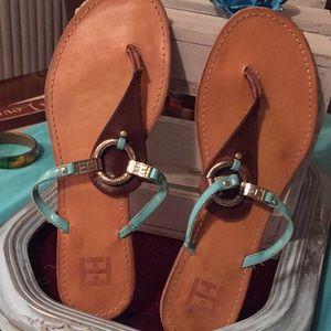 Tommy hillfingrrer slide sandal size10